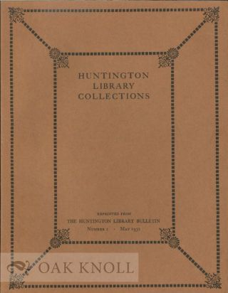 HUNTINGTON LIBRARY COLLECTIONS