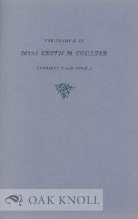 THE EXAMPLE OF MISS EDITH M. COULTER