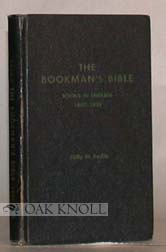 THE BOOKMAN'S BIBLE, A CODED GUIDE TO THE PRICING OF ANTIQUARIAN BOOKS BOOKS IN ENGLISH 1850-1899