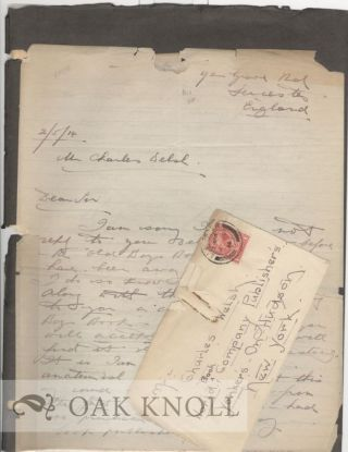 TWO ONE PAGE CARBON COPIES OF LETTERS TO HAROLD SIMPSON OF ENGLAND