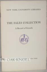 THE FALES COLLECTION, A RECORD OF GROWTH. John T. Winterich
