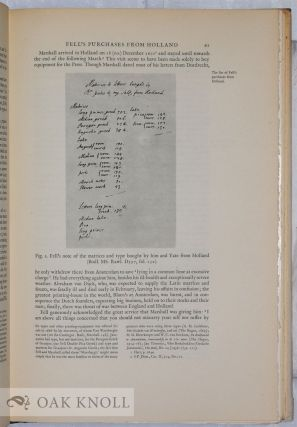 """JOHN FELL, THE UNIVERSITY PRESS AND THE """"FELL"""" TYPES THE PUNCHES AND MATRICES DESIGNED FOR PRINTING IN THE GREEK, LATIN, ENGLISH, AND ORIENTAL LANGUAGES BEQUEATHED IN 1686 TO THE UNIVERSITY OF OXFORD BY JOHN FELL."""