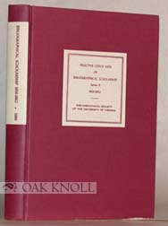 SELECTIVE CHECK LISTS OF BIBLIOGRAPHICAL SCHOLARSHIP, SERIES B, 1956- 1962