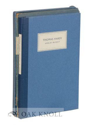 THOMAS HARDY, NOVELIST OR POET? A. Edward Newton
