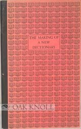 THE MAKING OF A NEW DICTIONARY. David B. Guralnik
