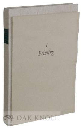 A LEAF HISTORY OF BRITISH PRINTING FROM 1610 TO 1774. Geoffrey Wakeman