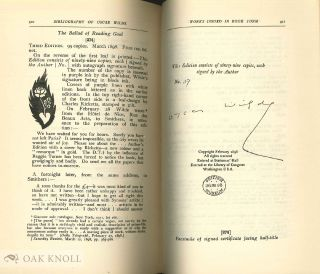 BIBLIOGRAPHY OF OSCAR WILDE With a Note by Robert Ross.
