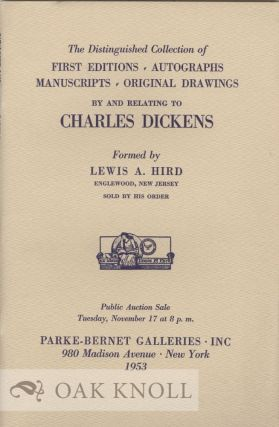 FIRST EDITIONS, AUTOGRAPHS, MANUSCRIPTS, ORIGINAL DRAWINGS BY AND RELATING TO CHARLES...