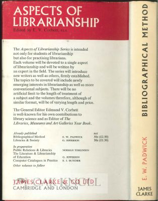 BIBLIOGRAPHICAL METHOD, AN INTRODUCTORY SURVEY