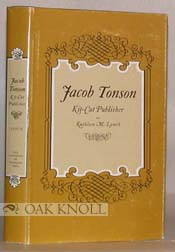 JACOB TONSON, KIT-CAT PUBLISHER. Kathleen M. Lynch