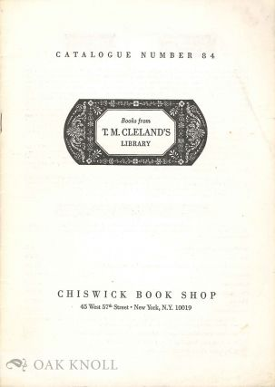BOOKS FROM T.M. CLELAND'S LIBRARY