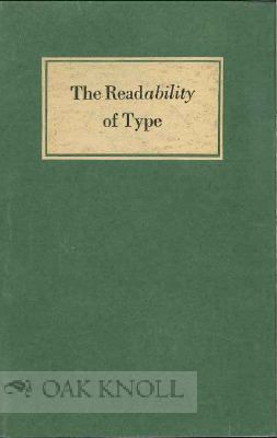 THE READABILITY OF TYPE