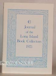JOURNAL OF THE LONG ISLAND BOOK COLLECTORS