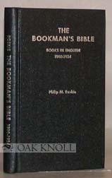 BOOKMAN'S BIBLE, A CODED GUIDE TO THE PRICING OF ANTIQUARIAN BOOKS BOOKS IN ENGLISH 1900-1924
