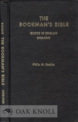BOOKMAN'S BIBLE, A CODED GUIDE TO THE PRICING OF ANTIQUARIAN BOOKS BOOKS IN ENGLISH 1925-1949....