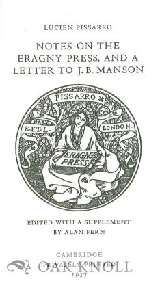 NOTES ON THE ERAGNY PRESS, AND A LETTER TO J.B. MANSON.