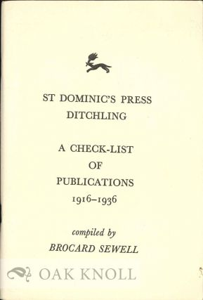 CHECK-LIST OF BOOKS, PAMPHLETS, BROADSHEETS, CATALOGUES, POSTERS, ETC. PRINTED BY H.D.C. PEPLER...