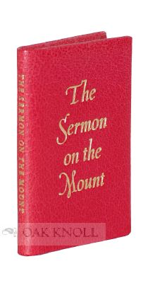 SERMON ON THE MOUNT FROM THE GOSPEL OF ST. MATTHEW, CHAPTERS 5,6,7.