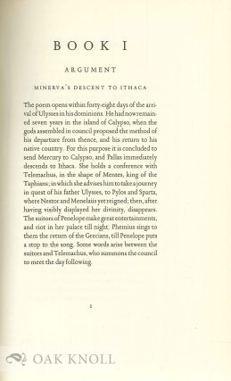 THE ODYSSEY OF HOMER, TRANSLATED BY ALEXANDER POPE.