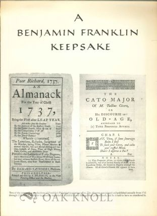 A BENJAMIN FRANKLIN KEEPSAKE.