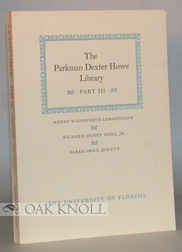 PARKMAN DEXTER HOWE LIBRARY PART III. Sidney Ives