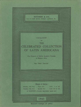 CATALOGUE OF THE CELEBRATED COLLECTION OF LATIN AMERICANA, THE PROPERTY OF SENOR ALBERTO DODERO