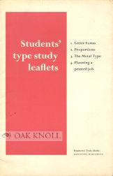 STUDENTS' TYPE STUDY LEAFLETS