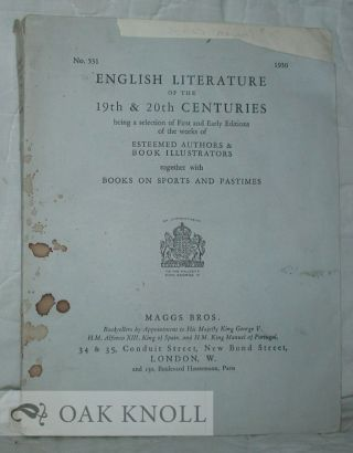 ENGLISH LITERATURE OF THE 19TH & 20TH CENTURIES. 531