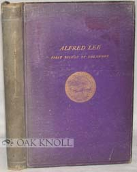 ALFRED LEE, SEPTEMBER 9TH 1807, APRIL 12TH 1887