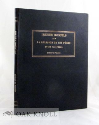 IRENEE BONFILS, WRITTEN BY PIERRE SAMUEL DU PONT DE NEMOURS AND PUBLISHED IN PARIS 1808. Pierre Samuel Du Pont De Nemours.