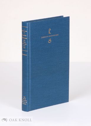 A DIRECTORY OF LONDON STATIONERS AND BOOK ARTISANS 1300-1500.