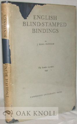 ENGLISH BLIND-STAMPED BINDINGS. H. Basil Oldham