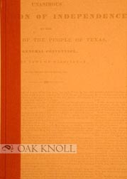 TEXFAKE, AN ACCOUNT OF THE THEFT AND FORGERY OF EARLY TEXAS PRINTED DOCUMENTS.