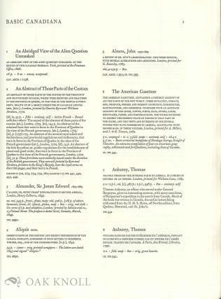 THE LAWRENCE LANDE COLLECTION OF CANADIANA IN THE REDPATH LIBRARY OF MCGILL UNIVERSITY, A BIBLIOGRAPHY.