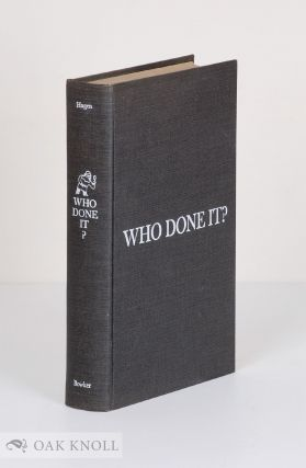 WHO DONE IT? A GUIDE TO DETECTIVE, MYSTERY AND SUSPENSE FICTION. Ordean A. Hagen.