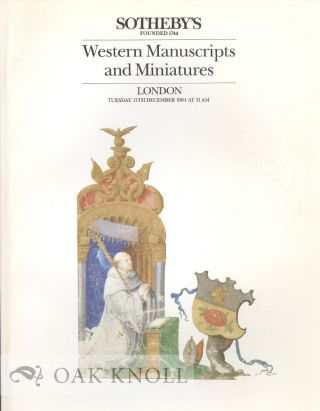 WESTERN MANUSCRIPTS AND MINIATURES.