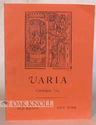 VARIA, CATALOGUE 174. 174