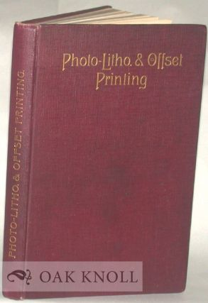 PHOTO-LITHO. AND THE OFFSET PRINTING. F. T. Corkett