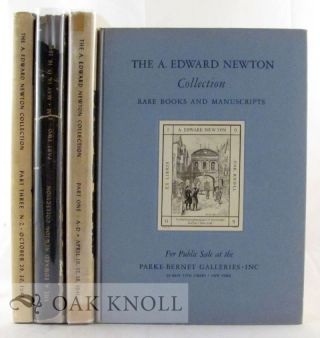 RARE BOOKS, ORIGINAL DRAWINGS, AUTOGRAPH LETTERS AND MANUSCRIPTS COLLECTED BY THE LATE A. EDWARD NEWTON.
