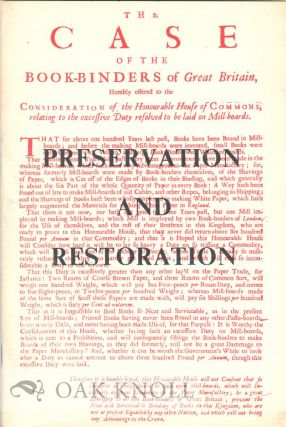 PRESERVATION AND RESTORATION, A BRIEF HISTORY, AND AN ACCOUNT OF WORK BEING DONE AT MILLS...