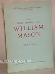FIRST EDITIONS OF WILLIAM MASON