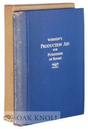 WARREN'S PRODUCTION AID FOR PUBLISHERS OF SCHOOL BOOKS & TRADE BOOKS. Warren