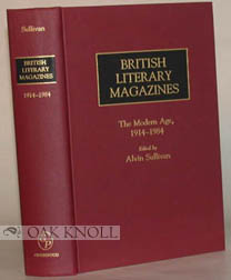 BRITISH LITERARY MAGAZINES, THE MODERN AGE, 1914-1984