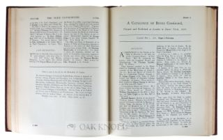 THE TERM CATALOGUES, 1668-1709 A.D., WITH A NUMBER FOR EASTER TERM, 1711 AD., A CONTEMPORARY BIBLIOGRAPHY OF ENGLISH LITERATURE IN THE REIGNS OF CHARLES II, JAMES II, WILLIAM AND MARY, AND ANNE.
