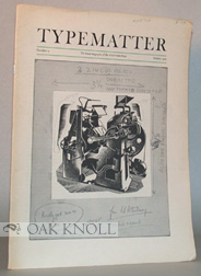 TYPEMATTER, THE HOUSE MAGAZINE OF THE WESTERHAM PRESS
