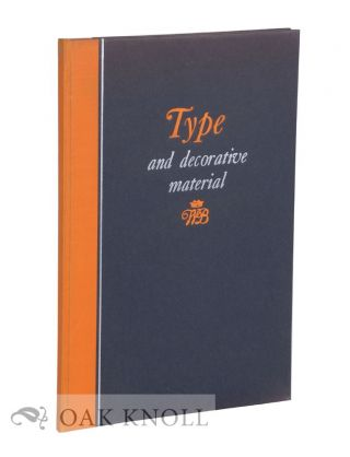 TYPE & DECORATIVE MATERIAL USED IN THE PRODUCTION OF CATALOGUES FOR THE AMERICAN ART ASSOCIATION,...