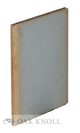 A SHORT HISTORICAL SKETCH OF THE ART OF BOOKBINDING. WITH A DESCRIPTION OF PROMINENT STYLES BY...