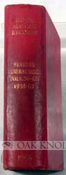 BOOK-AUCTION RECORDS. SEVENTH GENERAL INDEX TO BOOK-AUCTION RECORDS FOR THE YEARS 1958-1963 (VOLUMES 56-60).