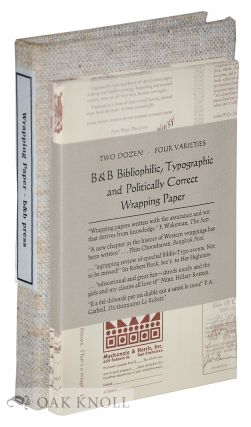 B & B BIBLIOPHILIC, TYPOGRAPHIC AND POLITICALLY CORRECT WRAPPING PAPER