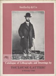 CATALOGUE OF A COLLECTION OF FINE LITHOGRAPHS AND DRAWINGS BY HENRI DE TOULOUSE-LAUTREC